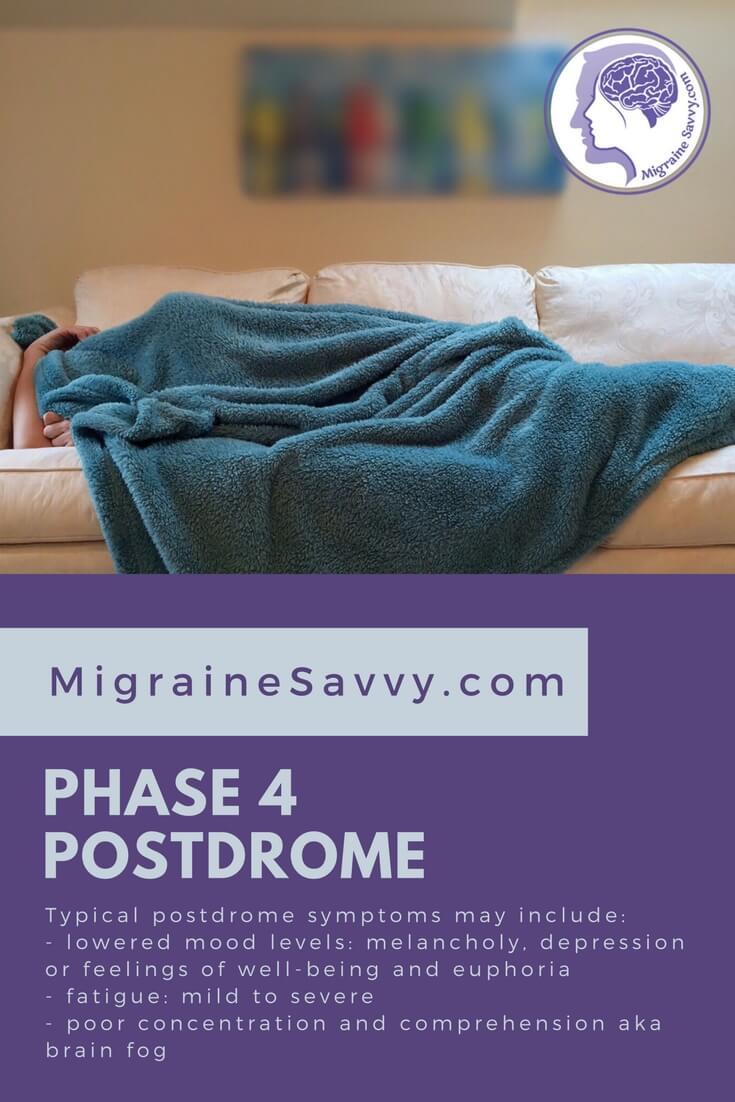 Phase 4 is the postdrome. @migrainesavvy #migrainerelief #stopmigraines #migrainesareafulltimejob