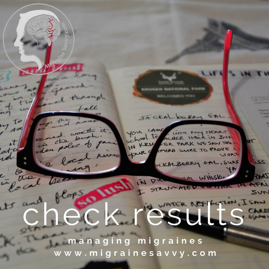 Keep a migraine diary to check results @migrainesavvy