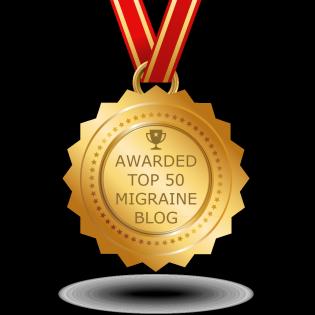 Voted #15 Top Migraine Blog... YAY!