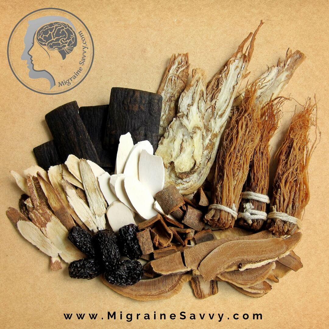 The Chinese herb for migraine is Corydalis – Yan Hu Suo. @migrainesavvy #migrainerelief #stopmigraines #migrainesareafulltimejob