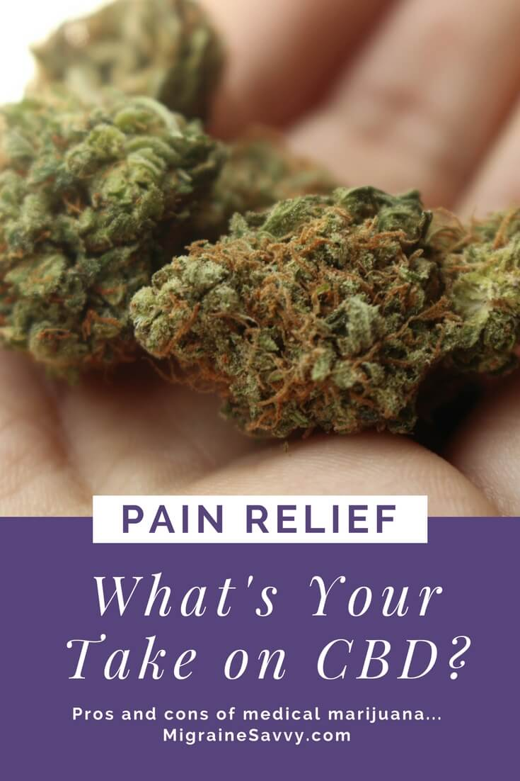 CBD for pain relief @migrainesavvy