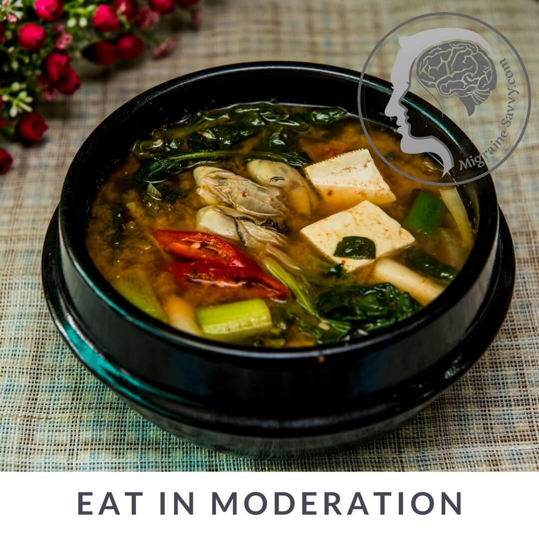 Eating in moderation is part of a Macrobiotic diet @migrainesavvy #migrainerelief #stopmigraines #migrainesareafulltimejob