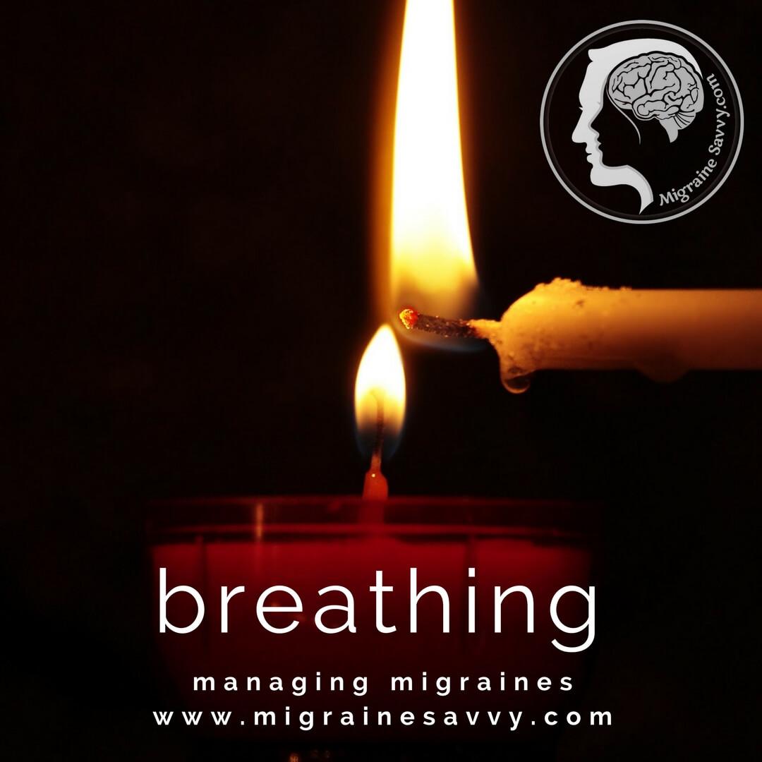 Focus on your breath. @migrainesavvy #migrainerelief #stopmigraines #migrainesareafulltimejob