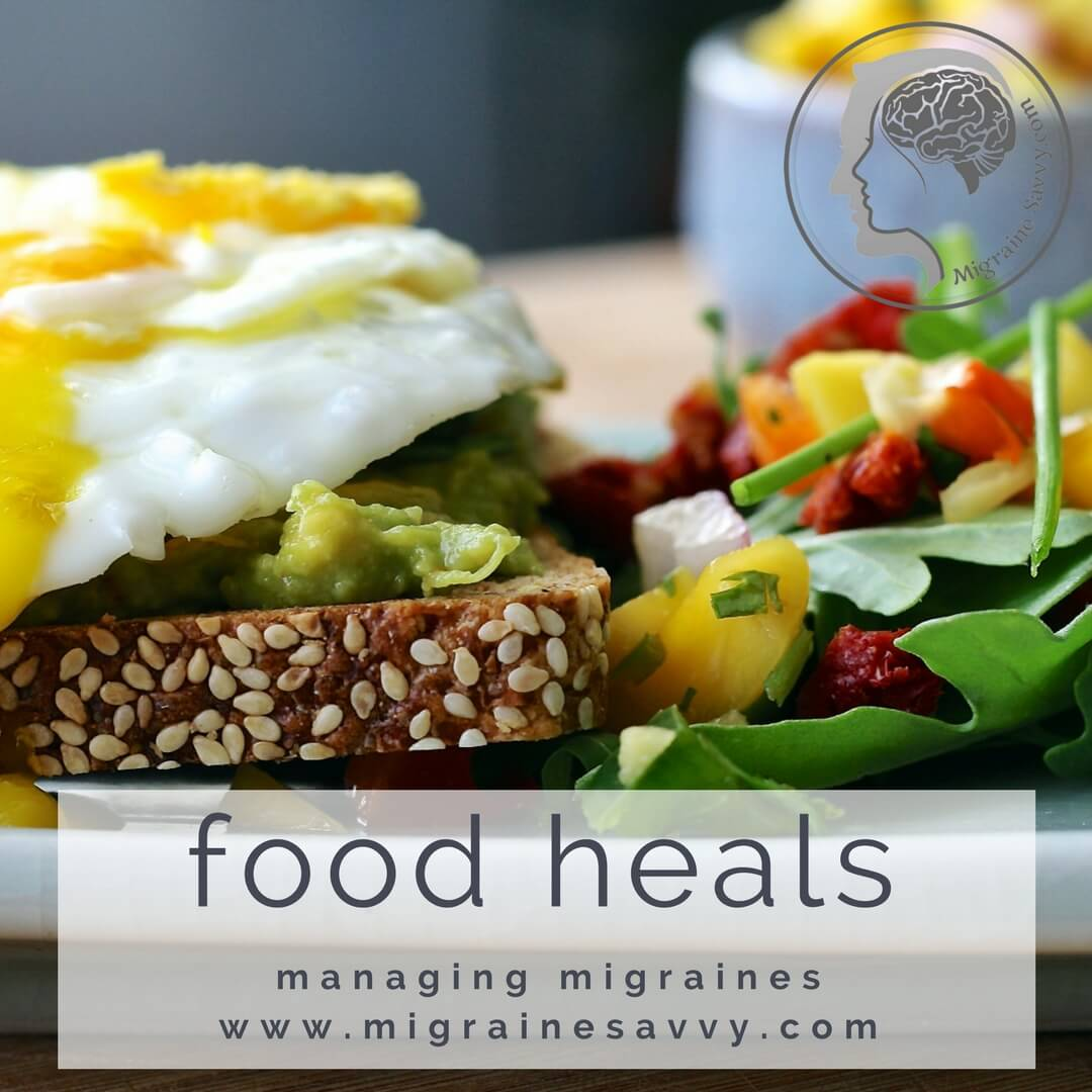 The food we eat can be our medicine.  @migrainesavvy #migrainerelief #stopmigraines #migrainesareafulltimejob