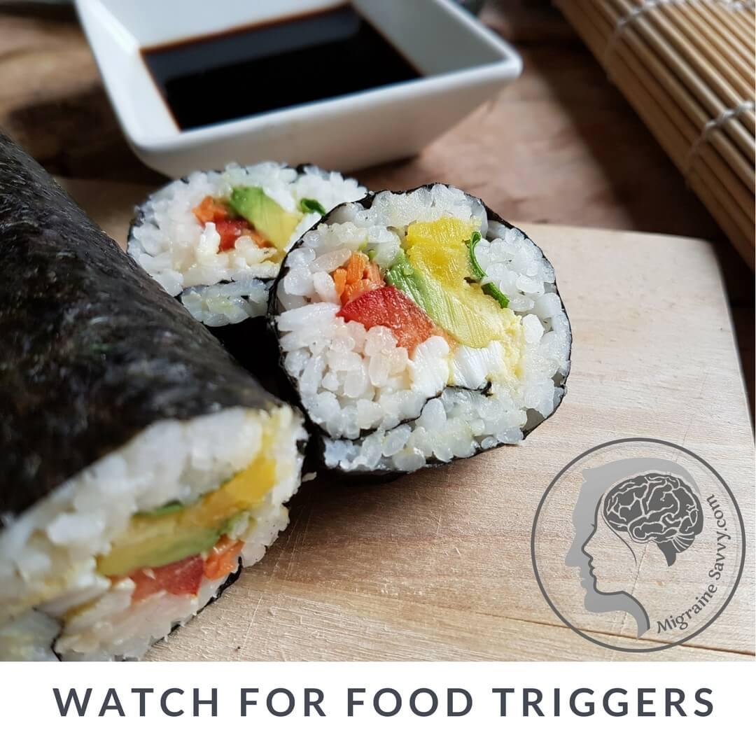 I find rice, raw vegetables and fresh foods migraine safe. @migrainesavvy #migrainerelief #stopmigraines #migrainesareafulltimejob