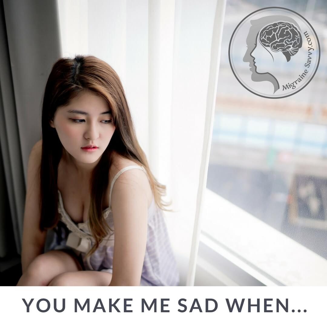 Migraines are depressing when you lose days in bed @migrainesavvy