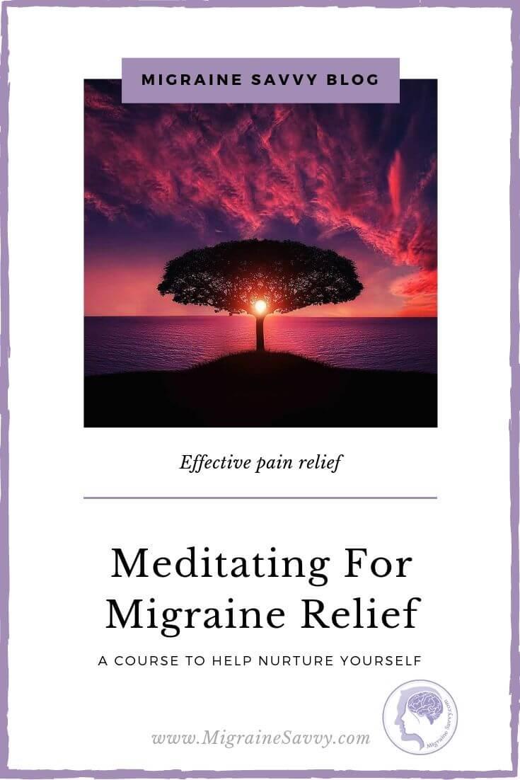 Scientific Proof that Meditating Reduces Migraine Frequency and Severity @migrainesavvy #migrainerelief #stopmigraines #meditation