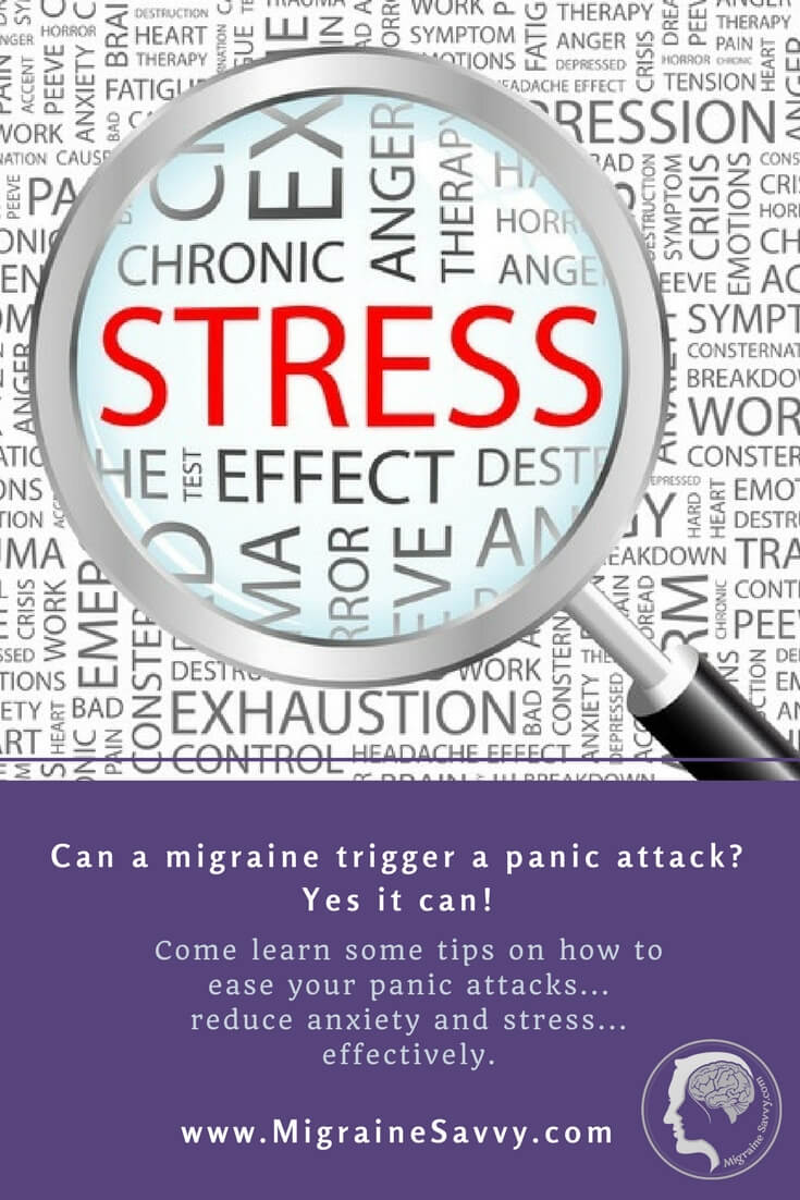 Can a migraine trigger a panic attack? Yes it can! @migrainesavvy #migrainerelief #stopmigraines #migrainesareafulltimejob