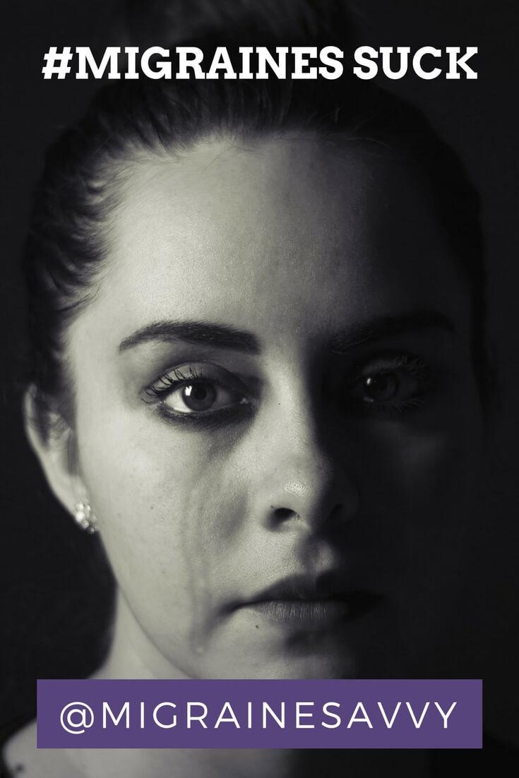 Migraine Headaches Suck @migrainesavvy #migrainerelief #stopmigraines #migrainesareafulltimejob