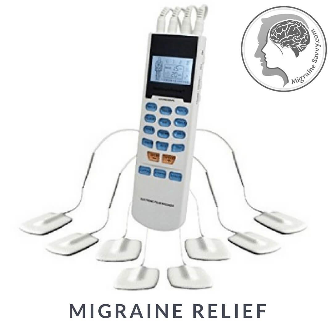 Tens unit for migraine relief
