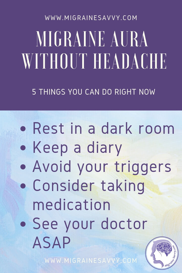 Migraine Aura without Headache Text Box Tips @migrainesavvy