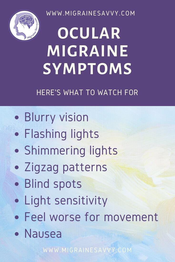 How To Stop Ocular Migraine Symptoms @migrainesavvy #migrainerelief #stopmigraines #migrainesareafulltimejob