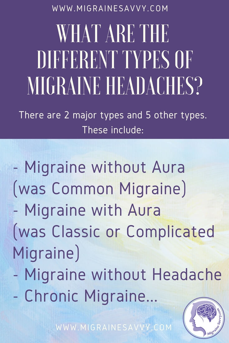 What are the different types of migraine headaches? @migrainesavvy #migrainerelief #stopmigraines #migrainesareafulltimejob