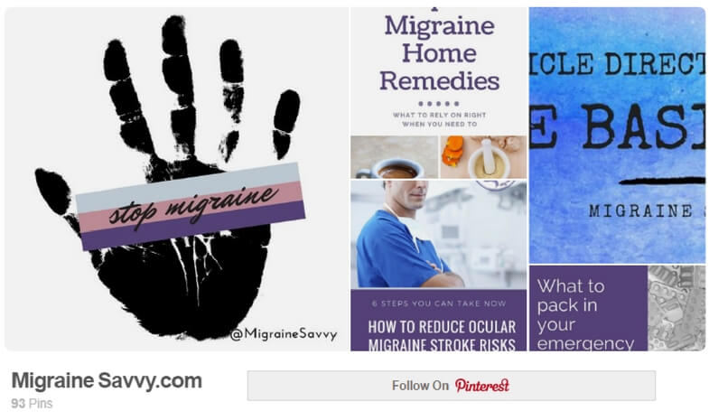 Follow Migraine Savvy on Pinterest