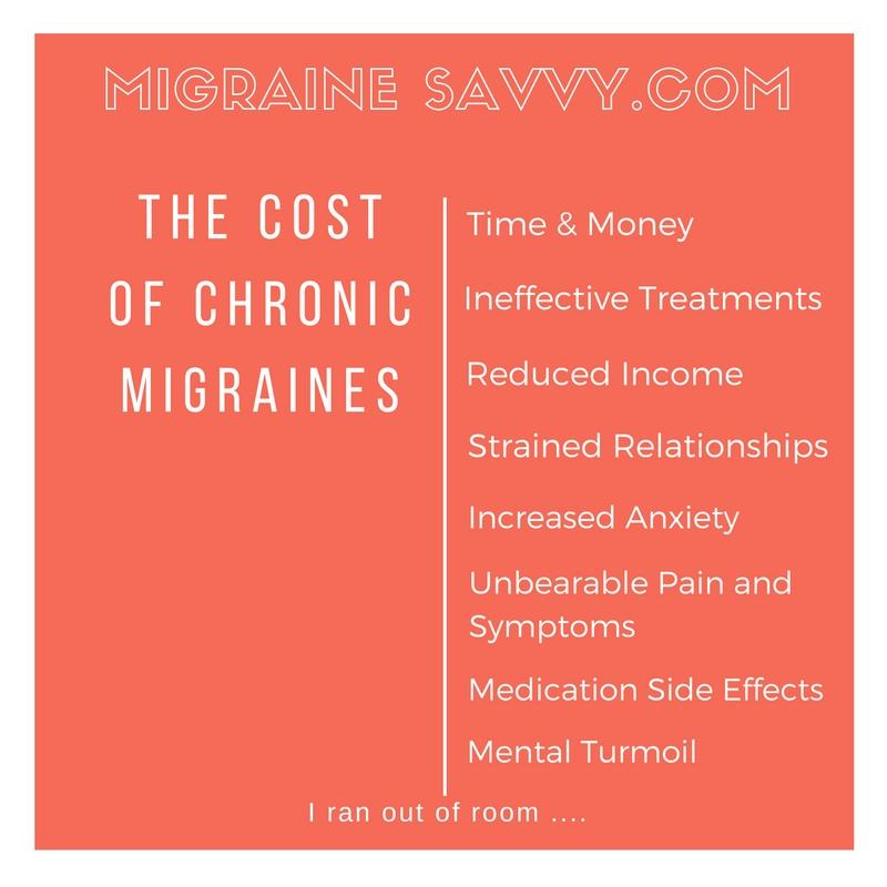 The Cost of Migraines @migrainesavvy