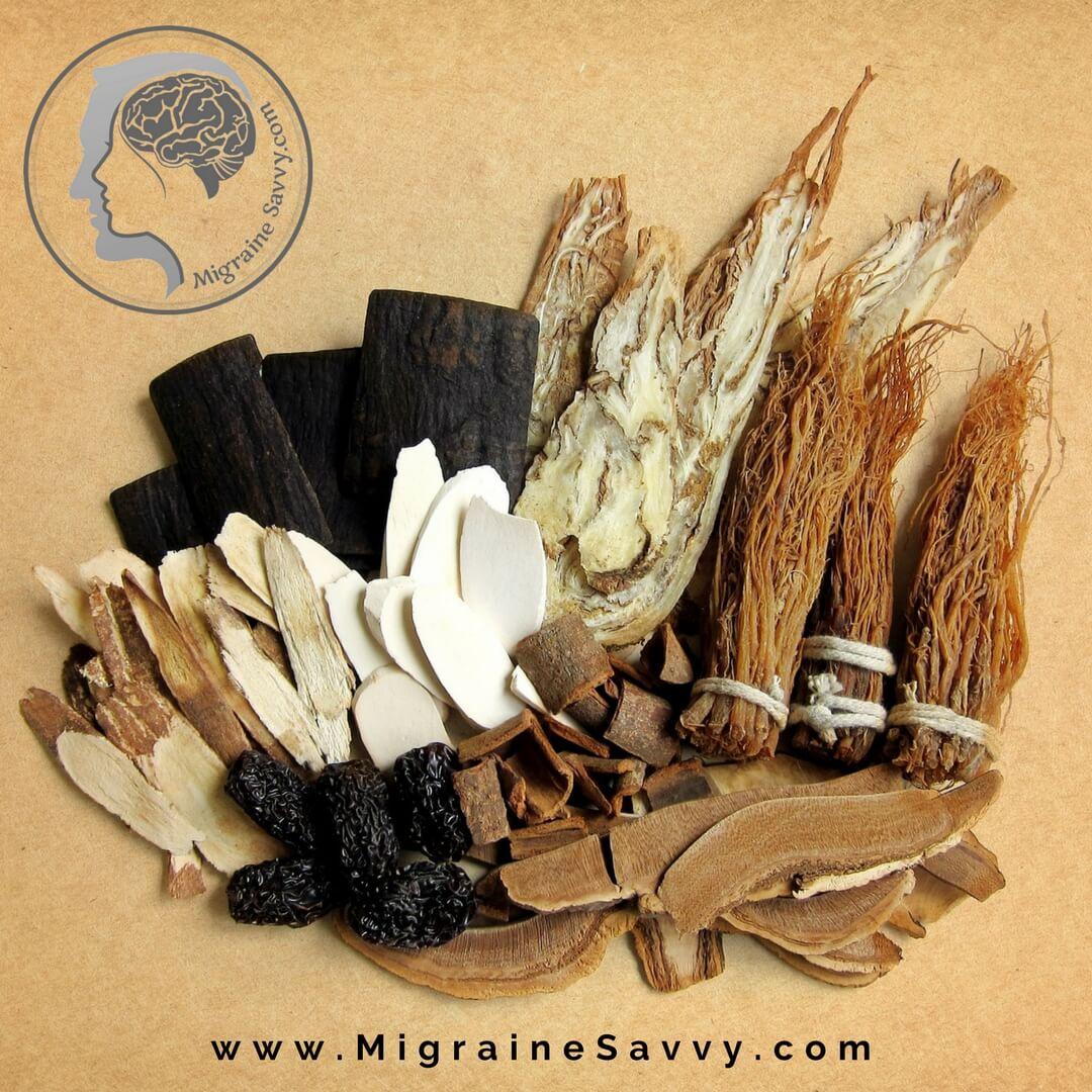 The Chinese herb for migraine is Corydalis – Yan Hu Suo. @migrainesavvy #migrainerelief #stopmigraines #migrainesareafulltimejob