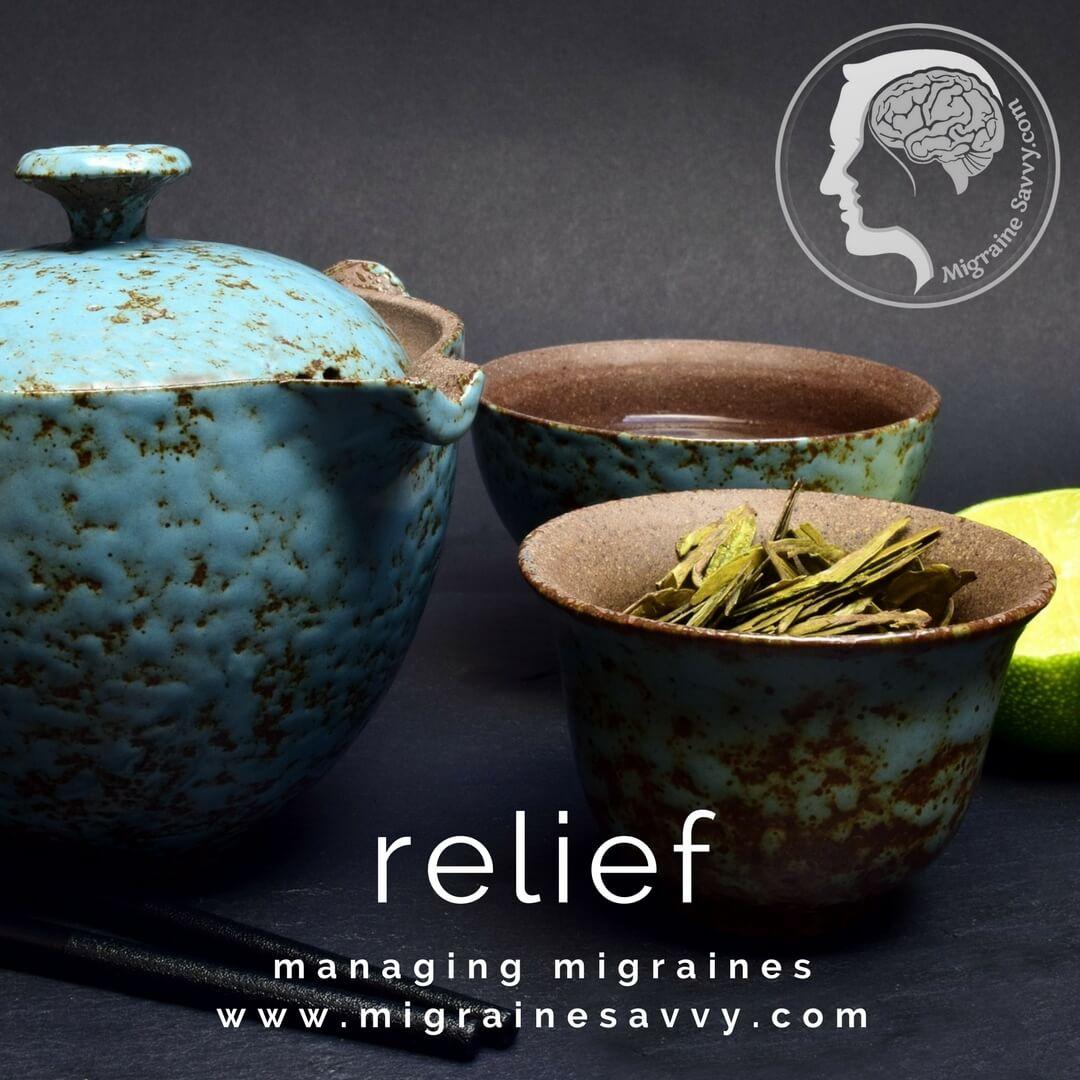 Chinese cure for migraine headache includes herbal teas @migrainesavvy #migrainerelief #stopmigraines #migrainesareafulltimejob