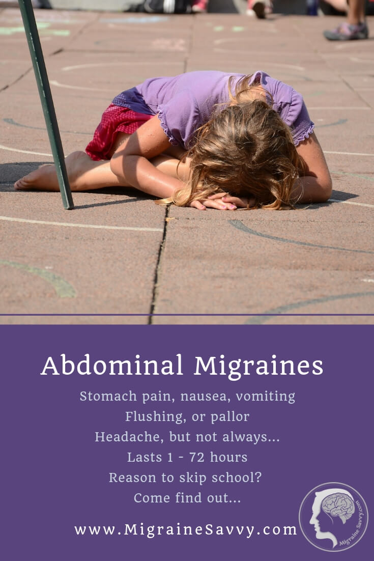Abdominal Migraine little girl