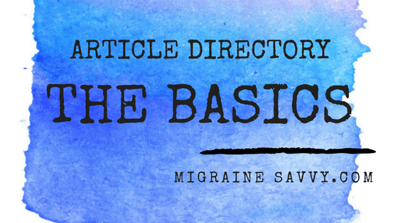Click here for the article directory for The Basics section