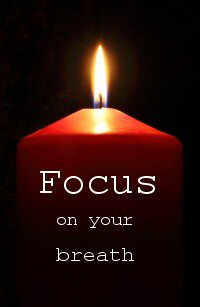 Meditation for Migraines Focus on Candle