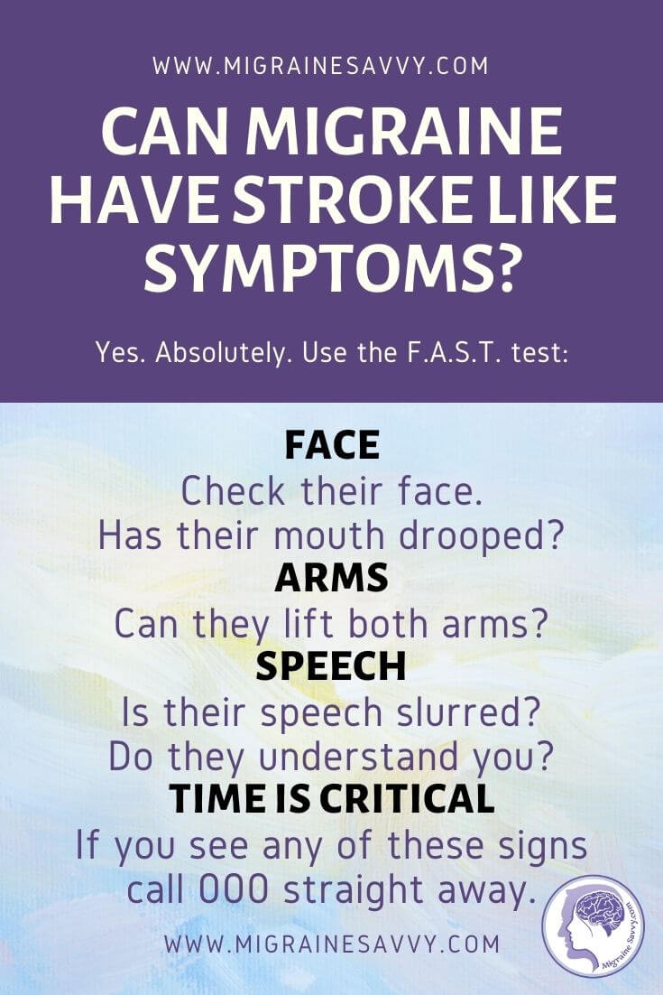 Can Migraines have stroke like symptoms? @migrainesavvy #migrainerelief #stopmigraines #migrainesareafulltimejob