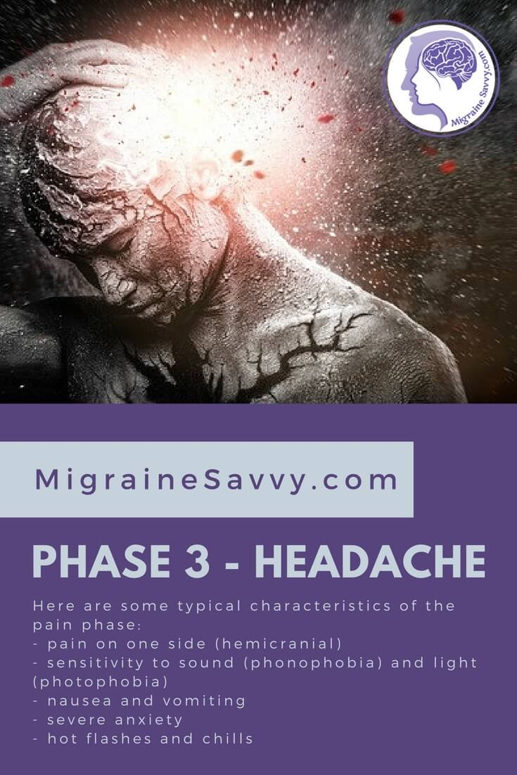 Phase 3 is the headache pain stage. @migrainesavvy #migrainerelief #stopmigraines #migrainesareafulltimejob