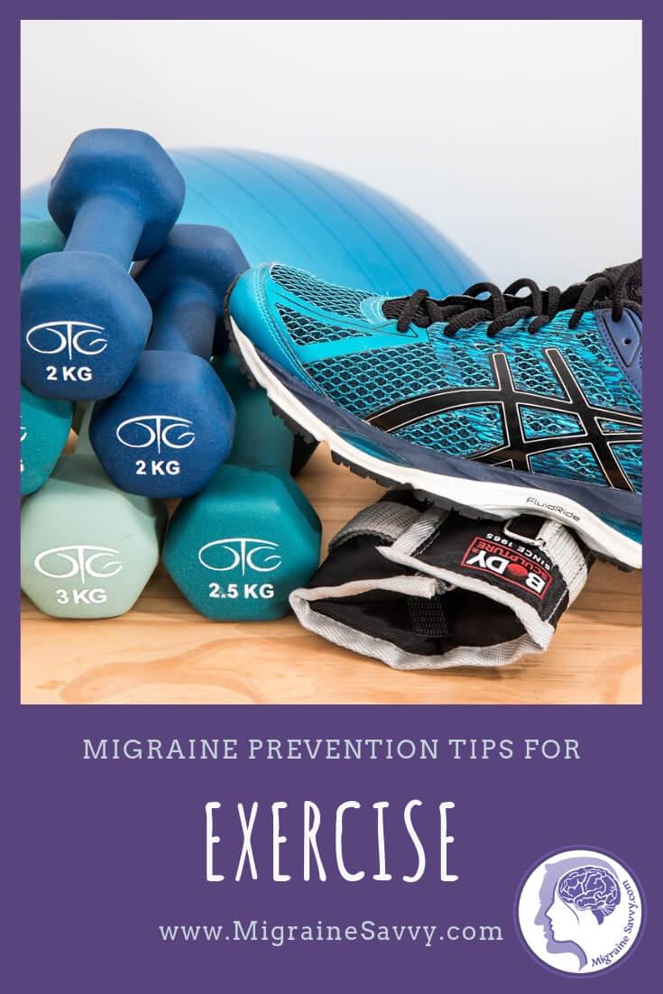Here are 4 tips to help you maintain your exercises for migraine prevention  @migrainesavvy #migrainerelief #stopmigraines #migrainesareafulltimejob
