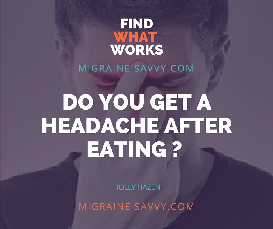 Headache After Eating