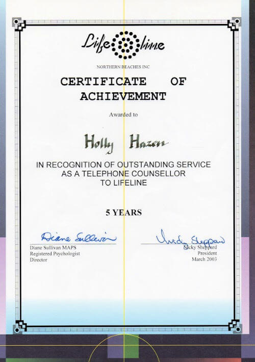 Lifeline Counselling 1998 - 2012