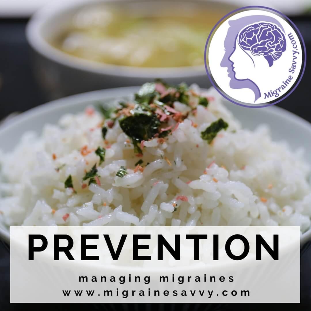 Avoid fried rice. Steamed is preferred. Brown rice is even better. @migrainesavvy #migrainerelief #stopmigraines #migrainesareafulltimejob