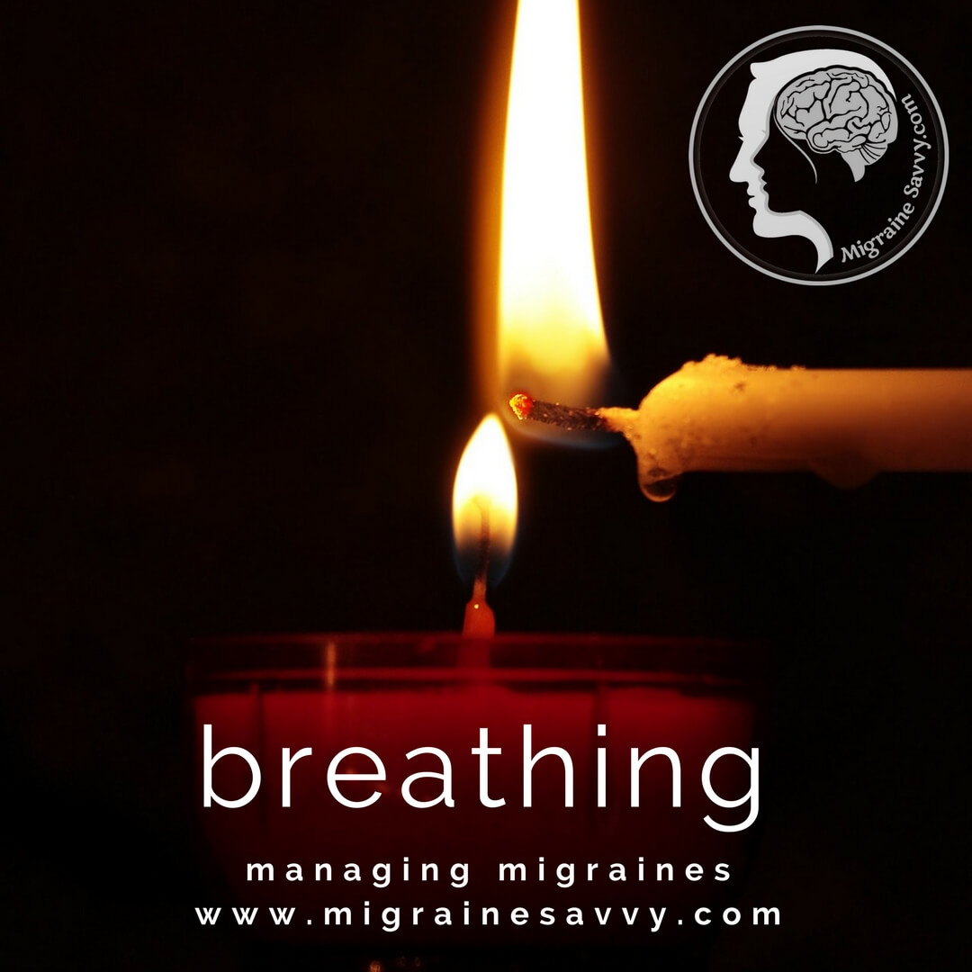 Focus on your breath. @migrainesavvy #migrainerelief #stopmigraines #migrainesareafulltimejob