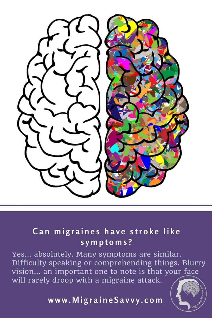 Migraine Stroke Signs @migrainesavvy #migrainerelief #stopmigraines #migrainesareafulltimejob