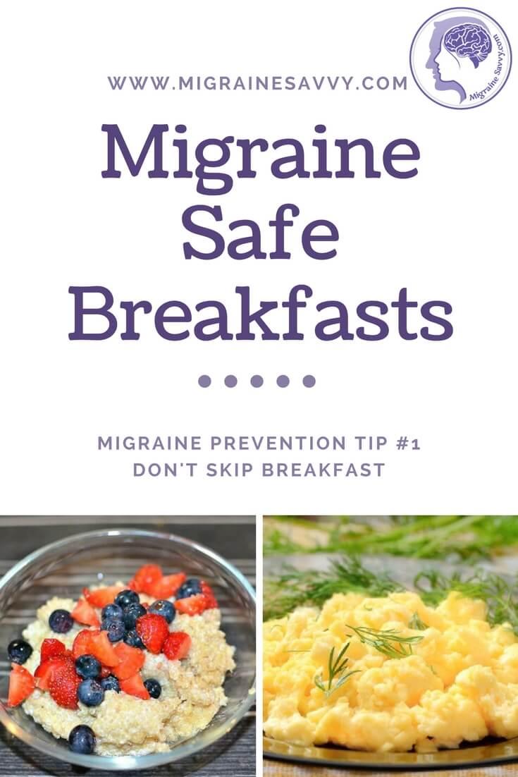 Migraine Safe Breakfasts