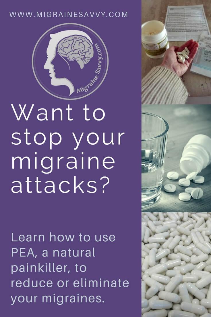 PEA to stop migraine attacks @migrainesavvy