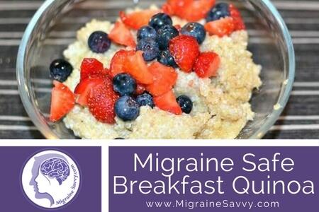 Migraine Recipe Breakfast Quinoa