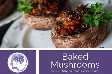 Baked Mushrooms with Goats Cheese