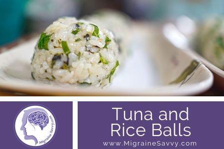 Migraine Free Tuna Rice Balls