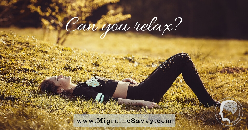 Here's An Easy Migraine Relaxation Technique For You @migrainesavvy #migrainerelief #stopmigraines #migraineheadaches