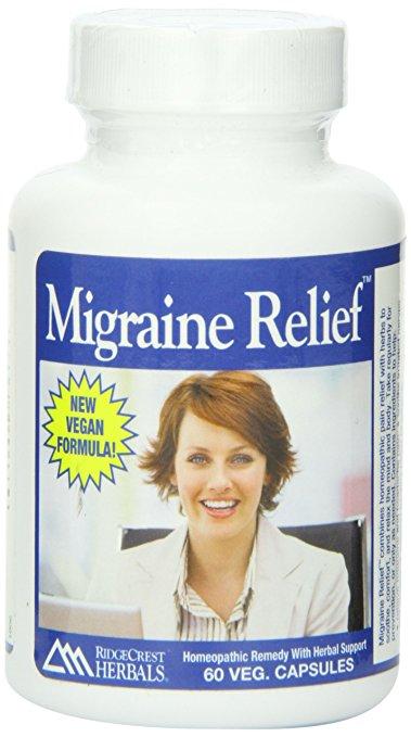 Homeopathic Migraine Relief 60 Caps