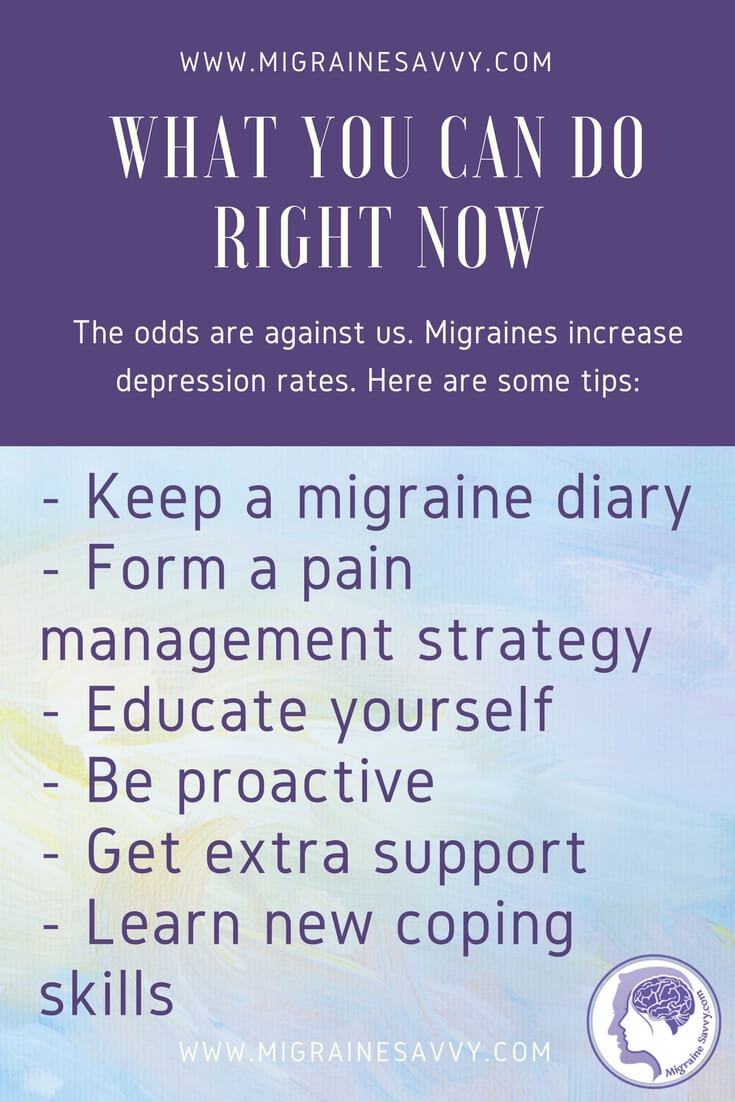 Migraines Increase Depression - What You Can Do Now @migrainesavvy #migrainerelief #stopmigraines #migrainesareafulltimejob