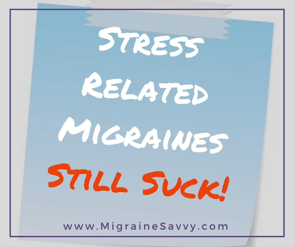 Stress Related Migraine Headaches Still Suck Sticker