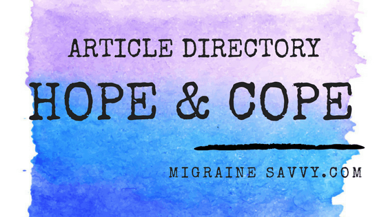 Click here for the article directory for The Hope & Cope section