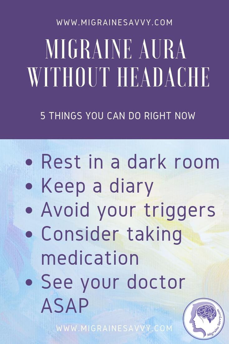 Migraine Aura without Headache Text Box Tips