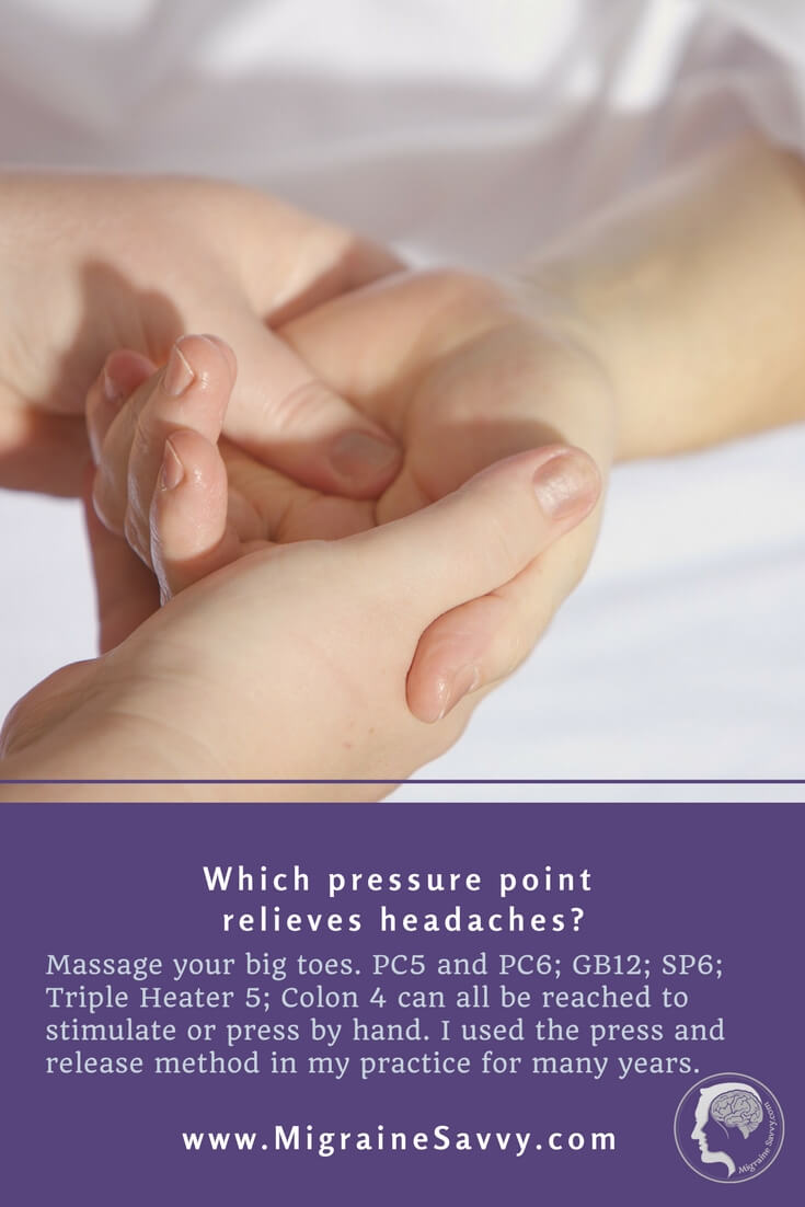 Migraine Pressure Point Routine
