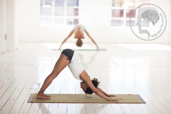 A good yoga pose for migraine prevention is downward dog @migrainesavvy #migrainerelief #stopmigraines #migrainesareafulltimejob